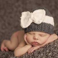 baby bow winter hats - New Baby Knitting Hats Winter Fashion Bow Kids Caps Newborn Cute Warm Accessories for