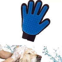 Wholesale Creation True Touch Pet Puppy Dog Cat Grooming Cleaning Glove Right Silicone Massage Removal Dirtly Bath Comb Brush Hair Tools