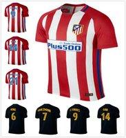 atletico madrid shirts - 16 Atletico Madrid Soccer Jersey Griezmann Fernando Torres Camisetas de Futbol Koke Gabi Jackson Home Away Football Shirt