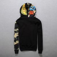 Wholesale 2016 Winter Men s Hoodies Cool Harajuku Shark Sweatshirts Fashion Graphic Printed Hoodie Jacket Long Sleeve Hooded Coats FXF0711