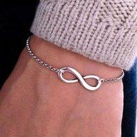 bar agate - Hot New Bijoux Fashion Vintage Infinity Bracelet For Women Bracelets Gift Bangles Men Jewelry