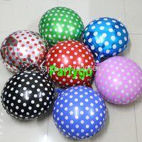 Wholesale New styles wholesales inch cloros dot helium balloon Candy mylar ballon Wave point the balloon hot sale