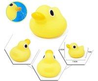 Wholesale 200pcs kids Rubber water toys toddler baby bath swimming toy yellow ducks Animal dolls kids gift JF