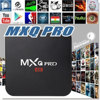 Wholesale MXQ Pro TV Box Amlogic S905 Chipset Kodi Full Loaded Android Lollipop OS Quad Core G G K Google Streaming Media Player with wifi