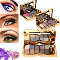 Wholesale 10 Colors Shimmer Matte Diamond Eyeshadow Palette Makeup Brush Cosmetic Set Hot