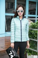 Wholesale 2016 New Fashion Reversible Winter Duck Slim Down Jacket Women Short Coat Thin Warm Clothes High Quality