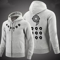 Wholesale New Anime Naruto Hoodies Naruto Uzumaki cosplay Costume Harajuku cartoon Sweatshirts Akatsuki Zipper Jacket