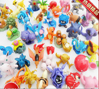 Wholesale Poke Minifigures Cute Pocket Monster Classic Toys Action Anime Figure cm Poke Mon Squirtle Charmander Pikachu Dolls Toys Model