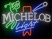 Wholesale 17 quot x14 quot Michelob Light Golf Real Glass Neon Light Signs Bar Pub Restaurant Billiards Shops Display Signboards