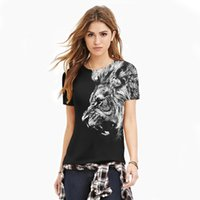 Wholesale 2016 brand d animal T shirt Casual t shirts for woman king lion t shirt summer tops