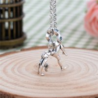 Wholesale Sterling Silver Jewelry Gymnastics Sports Player Charms Bead Silver DIY Danceer Pendants For Necklace Women Fine Jewelry Shipping S007