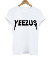 Wholesale 2016 New Women Tshirt yeezus Letters Print Cotton Casual Funny Shirt For Lady Black White Top Tee Hipster