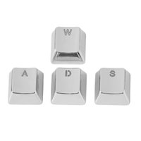 Wholesale New Arrived Keycap Metal Zinc W A S D Mechanical Gaming Key Caps For Professional Gamer Silver Transparent