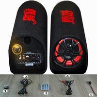 active subwoofer amplifier - 5 Inch Tunnel Car Subwoofer Motor Vehicle Amplifiers V Active Car Audio V V Home Computer Card Speakers USB Flash Disk