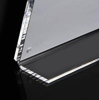 Wholesale Pack units L style Acrylic Top stand Loading Double Sided Display Sign Holder for hotel cafe restaurant