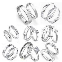 Wholesale Korean Version Of The Opening Sterling Silver Couple Rings For Men and WomenTo live On Adjustable Ring