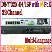 Wholesale Multi Langauge DS N E4 P NVR CH Channel MP MP resolution record with PoE port and SATA interfaces No package Box
