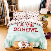 beds la - new arrival top quality la vie boheme bird leather flat sheet bedding set green bedspread bed linen luxury bedding set