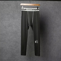 Lycra athletic sweatpants - Mens Running Trainning Pro Combat Leggings Camisa Fitness Homens Athletic Sweatpants Fitness Men Quick Dry Breathable Compresion