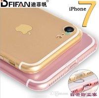 Caso de Iphone 7, nueva manera, transparente, las cajas del teléfono celular de la resistencia de la gota, envío libre 100 PC venden al por mayor 004