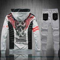 auto racing jackets - 2016 NEW Fashion Men Hoodies Brand PHILIP PLEIN Sports Suit High Quality Men Sweatshirt Hoodie Casual Zipper Hooded Jackets Male