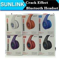 studio flash - Over Head Bluetooth Headphones Crack LED Flash Wireless Earphone Stereo Sports MP3 Headset support FM Handsfree MIC Retail Box STN