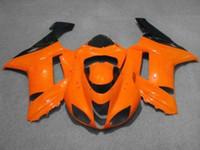 Wholesale Motorcycle Fairing kit for KAWASAKI Ninja ZX6R ZX6R Fashion orange black ABS Fairings set