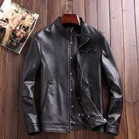 Wholesale Fasion show men jacket business casual item austrilia import sheepskin material highest quality metals same as original wear so luxury