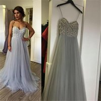 affordable dress shirts - New Style Fresh Looking Long Straps Tulle Charming Affordable Cocktail Evening Formal Gown Prom Dresses