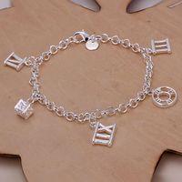 amethyst opal pendant - H184 Hot Selling silver bracelet Hot Selling silver fashion jewelry Rome Pendant Bracelet bhnajyua avtajnaa