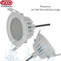 Wholesale 1pcs Driverless w w w w w w w w w LED Downlight AC220V IP65 Waterproof Bathroom Dimmable LED Ceiling Spot Light