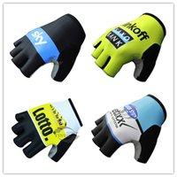 Pro Team SKY / Guantes gigante / IAM / Quickstep / Tinkoff ciclo medios guantes del dedo de bicicletas antideslizante bicicleta de carretera ama