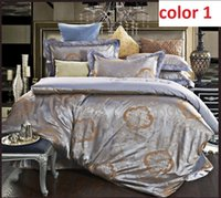 Wholesale bedding sets satin silk jacquard Cotton queen king size full twin single adult kids