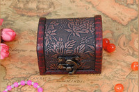antique wooden angels - Factory directly hot sell Vintage style DIY Mini wooden jewelry box wood storage box