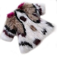 Wholesale 2015 Genuine Raccoon Fur Coat Spain Fashion Women Jacket Popular Mixed Color Winter Vest Coat Knitted Outerwear Clothing LQR015