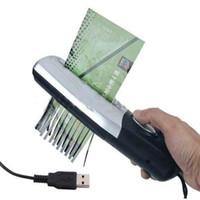 Wholesale Black USB or Batteries Powered Portable Hand Held Paper Shredder Cutter B00111 CADR
