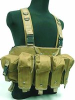 Wholesale Tactical Magazine sports vest Chest Rig Carrier Vest Coyote Brown