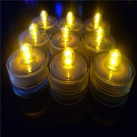 Wholesale Submersible candle Underwater Flameless LED Tealights Waterproof electronic Smokeless candles lights Wedding Birthday Party Xmas Decorative