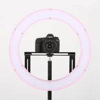 beauty videos - Falconeyes Ring LED Beauty Panel W Photo Lighting Video Film Continuous Soft Light w Camera Bracket Filter DVR DVC
