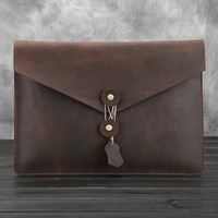 Wholesale NEW hot high genuine leather laptop case bag for notebook bag for macbook leather liner sleeve for ipad for macbook inch