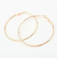 Wholesale Stylish Nickel Free K Gold Hoop Earrings Loop Earrings Celebrity Brand Earrings Women Gift Fashion Jewelry cm