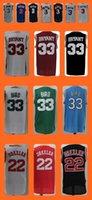 Wholesale Men s Clyde Drexler Larry Bird Kobe Bryant Allen Iverson Popular jersey Top Quality Drop Shipping Accept Mix order Hot Selli