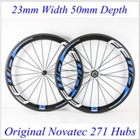 Wholesale FFWD Blue Decals mm Carbon Fiber Road Bike Racing Wheels Clincher Tubular Bicycle C Wheelset With Novatec Hubs