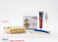 Wholesale Care Travel Kit wash bag travel essential toiletries toothbrush toothpaste towel Travel