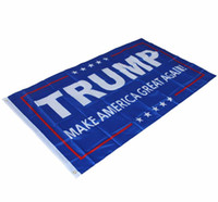 Wholesale 1 Trump flag make america great again Banner Polyester Flag metal Grommets x150cm With Brass Grommets b251