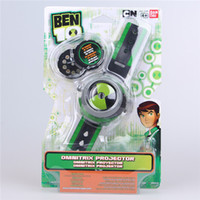 ban watch - BAN DAI Genuine ben omnitrix watches Protector of Earth Defender Tennyson ben10 projector Projection toy kids toys gifts BANDAI