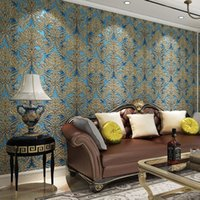 big flower wallpaper - European Style D Wallpaper Flower for Living Room Walls Big Floral Background Wall Paper Roll Non Woven Vintage Wallpapers