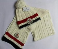 Cheap Wholesale-Free Shipping 1:1 Quality 100% Wool Cashmere hat & scarf wool cap scarves warm muffler winter Unisex hats scarf26colours