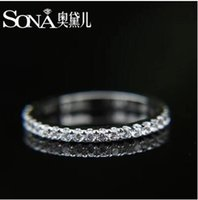 Wholesale Luxury High Quality Super Sona Genuine Sterling Silver Group Mosaic Color Gold Inlaid Full Diamond A set All match Female Wedding Ring