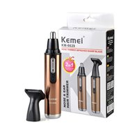 Wholesale Hot Sale Kemei KM Electric Shaving in Nose Hair Trimmer Safe Face Care Shaving Trimmer Nose Hair Clipper For Nose Trimmer